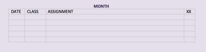 Due Date Spreadsheet Blank | MichelleAdamsBlog