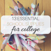 13 Essential School Supplies for College