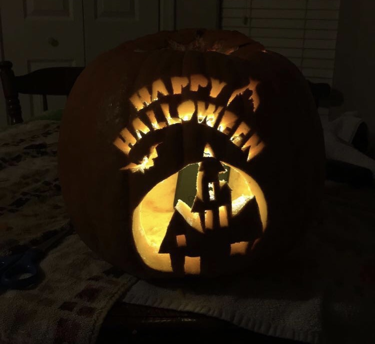 Ryans carved pumpkin