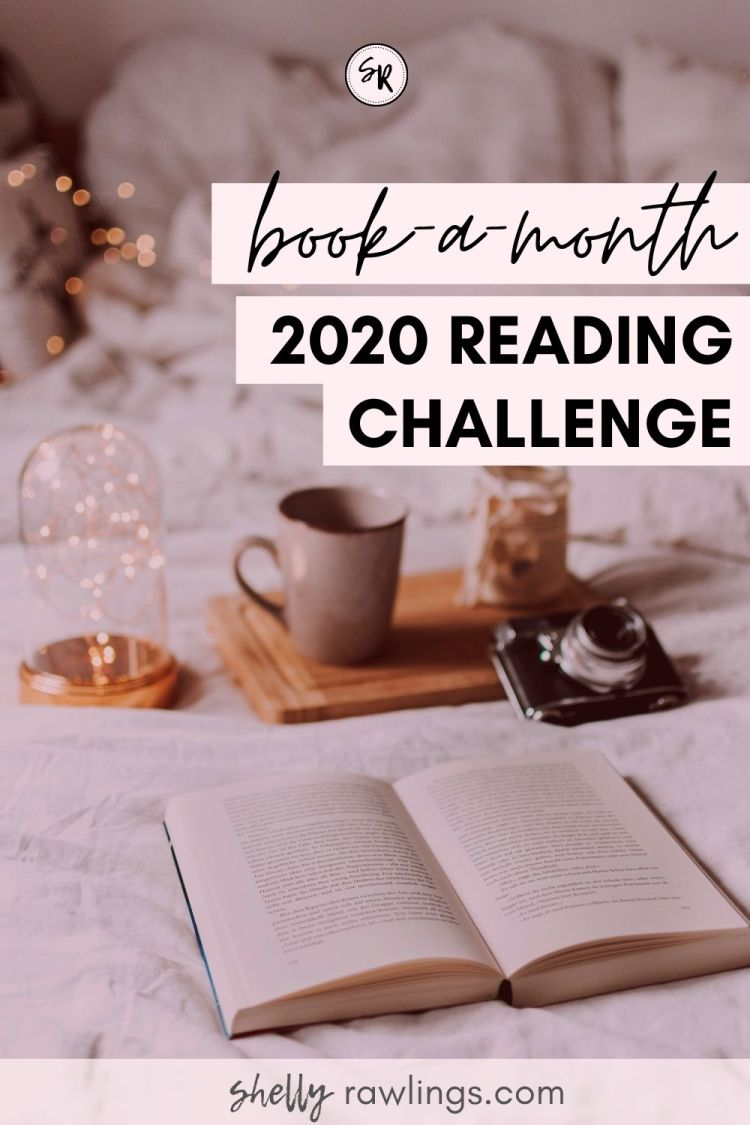 Book-A-Month 2020 Reading Challenge | Read 12 Books in 12 Months | Shelly Rawlings